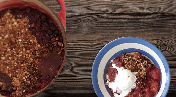 summer spiced crumble