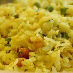 Cooked Poha Indian Breakfast