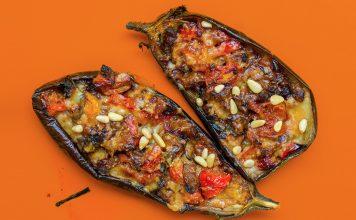 spicy stuffed aubergine