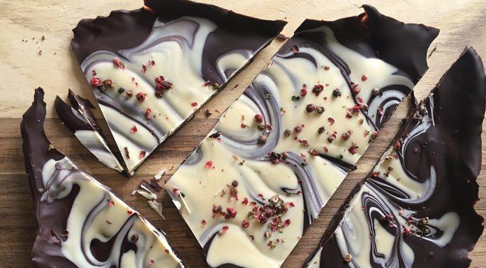 chocolate and peppercorn slab