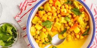 tofu and chickpea curry